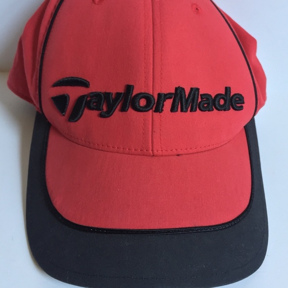 c8fb779d Taylor Made Accessories | Taylormade Golf Hat Blackred Adjustable ...
